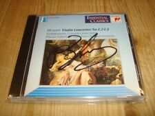 PlNCHAS ZUKERMAN Mozart Violin Concertos 1-3 SONY CLASSICAL CD Signed Signiert