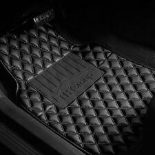 PU Leather Car Floor Mats Universal Auto Car SUV Van Diamond Pattern Black