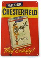 TIN SIGN Chesterfield Cigarettes Tobacco Décor Art Smoke Shop A285