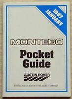 AUSTIN ROVER MONTEGO Car Range Salesmans Pocket Product Guide Jan 1987