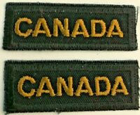 """Canadian Armed Forces """"CANADA"""" Cloth Shoulder Flash Pair"""