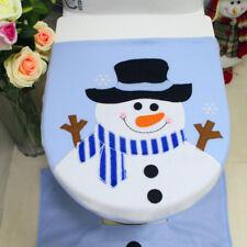 Christmas Toilet Lid Cover Snowman Bathroom Decoration Santa Xmas Ornament jh78