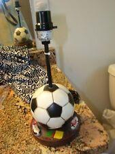 Nantucket Boys Soccer Ball Dresser Light With Soccer Shoes/Books Darling