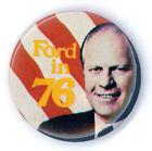"""Super  ~ """" FORD  IN  '76 """" ~ 1976 Campaign Button"""