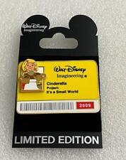 Disney Wdi It's A Small World Cinderella 2009 I.D Badge Le 300 Cast Pin Real