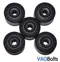 Genuine VW Wheel Nut Bolt Plastic Cover Caps 4 Normal,1 Locking Golf Passat etc