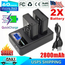 2x LP-E10 Battery & Dual Charger for Canon Rebel T3 T5 T6 EOS 1100D Kiss X50 X70