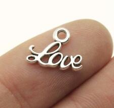 20 x Love Word Charms Antique Silver Tiny Love Valentines Charms 10 x 13mm