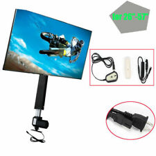 "LCD Motorised TV Stand Lift Mount Bracket Stroke 700mm for 26""-57"" TV Cabinet UK"