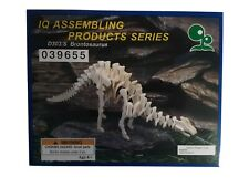 Brontosaurus Model Wooden Kit Iq Assembling Product Series Dinosaur Educational