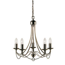 Searchlight Maypole 5 Light Classical Antique Brass Ceiling Fitting Chandelier