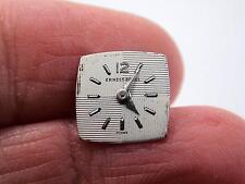 Ernest Borel Pearl Watch Dial Ladies 10.94mm High & Wide Silvr Mrkrs Vintage NOS