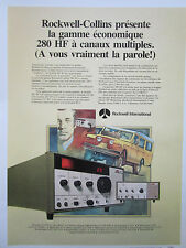 7/1978 PUB ROCKWELL COLLINS RADIO HF GERATESERIE 280 LAND ROVER FRENCH AD