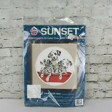 Sunset Dalmatian Trio Puppies Dogs No Count Cross Stitch Kit 13924