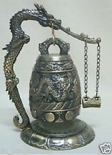 HOT !!! SALE Excellent chinese Tibet Brass Dragon Bell ornaments Free Shipping
