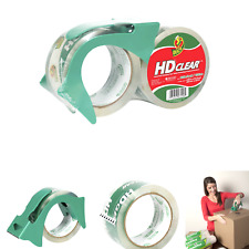 New Listingduck Hd Clear Heavy Duty Packing Tape With Dispenser 2 Rolls 188 Inch X 54