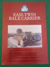 ABT EASI TWIN BALE CARRIER LEAFLET (SILAGE HANDLING WRAPPED JOHN DEERE) 1990