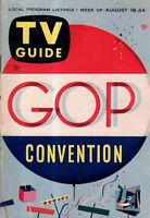 1956 TV Guide August 18-Republican National Convention Special Issue