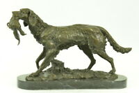 Retriever Hunting Bird Gun Trials Dog Lover Bronze Statue Sculpture Award Decor