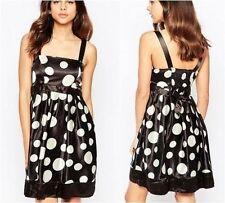 Polka Dot Skater Regular Size Dresses for Women