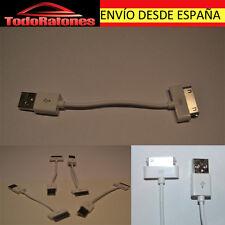 Cable Data Ipod Classic IPHONE 3 4 IPAD 4s ipad2 White 12cm
