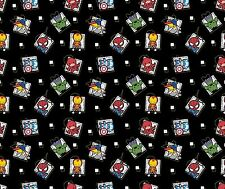 Springs Marvel Kawaii 54863 Super Hero Badge Cotton Fabric