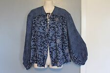 Free People Anthropologie Tie Front Blouse Top Small