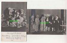2 x Foto Ak Theaterstück Kostüme Schauspieler 1913 Bautzen Budyšin ! (A1788