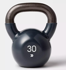 NEW 30lb Kettlebell Vinyl Coating Solid Iron Core 30 lbs All in Motion Free 📦