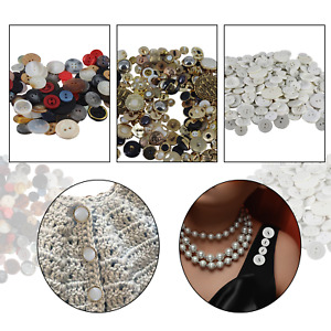 Job-lot Buttons White Gold MIXED COLOURS Assorted Sizes & Shapes 1kg 5kg Buttons