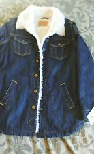 Levis new with tag M womens sherpa coat jean denim jacket