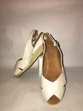Women's Michelle D White Sandals Size 6.5