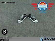 1/6 BLACK Converse Chuck all star Lace Up sneaker shoes for 12'' MALE figure