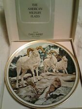 Lenox American Wildlife Dall Sheep Collector Plate by Norman Adams 1982