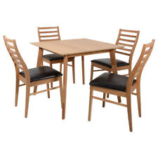 Square Modern Table & Chair Sets with 5 Pieces