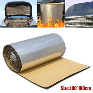 10mm Car Door Hood Mat Sound Deadener Heat Insulation Adhesive Mat 100cm*100cm