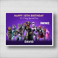 C18 - Personalised Fortnite Birthday Card - Girl or Boy - Any Name and Age