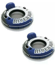 2-PACK NEW RIVER RUN I INFLATABLE RIVER TUBE LOUNGE 1 PERSON LAKE RAFT BOAT