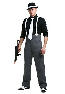 Men's Mafia Underboss Gangster Pants Costume Size XS XL (with defect)