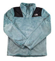 Girls The North Face Jacket Oso 1/4 Snap Pullover Fleece Soft Cozy Blue XL 18