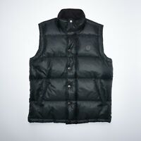 Fred Perry Mens Dark Green Down Puffer Gilet Jacket Size Small New