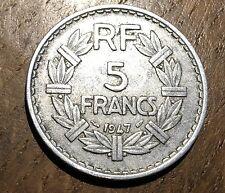 PIECE DE 5 FRANCS LAVRILLIER 1947 (129)