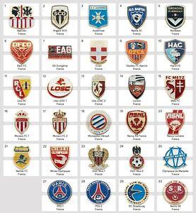 Metal Pin France Football Clubs European Soccer