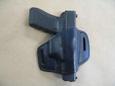 CZ P01, P06, P07, 83 Leather 2 Slot Molded Pancake Belt Holster Black