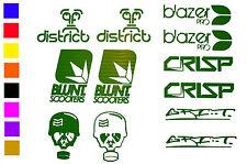 Grit 4 x Stunt Scooter Stickers BLUNT Crisp District Blazer Pro