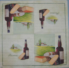 WINE ITALY PAPER TABLE NAPKIN FOR CRAFT VINTAGE DECOUPAGE COFFE TEA PARTIES 150