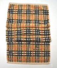 Burberrys Hand Towel Designer Nova Check Gym Guest Used Condition Mid Brown