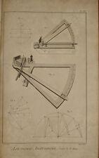 "Stampa antica ""Strumenti Astronomia Halley"" Diderot D'Alambert 1780 old print"