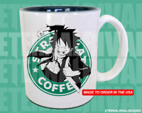 Luffy One Piece Starbucks Anime Manga Japanese Insipred Cartoon Geek Nerd Mug