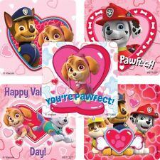 Paw Patrol Stickers x 5 - Birthday Party Loot Ideas - Paw Patrol Valentines Day